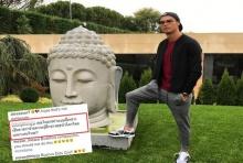 ระวังนรกถามหา!..คนไทยรุมด่า โรนัลโด้ โพสต์รูปเหยียบฐานเศียรพุทธรูป