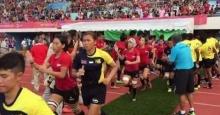 โหด ! รักบี้ 7 คน สาวไทย ยำเจ้าภาพ 39-0 ผงาดคว้าทอง
