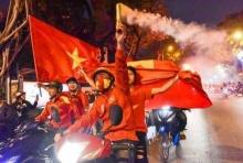 แฟน'เวียดนาม'ฉลองชัยโบกธงสะบัดทั่วถนน หลังลิ่ว8ทีมศึก'เอเชี่ยนเกมส์'