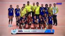 ′ตบสาวไทย′ ชนะเวียดนาม 3 เซตรวด  คว้าแชมป์ซีเกมส์ 10 สมัยติด