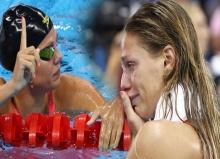 ดราม่าโอลิมปิก นักกีฬาว่ายน้ำสหรัฐฯ แสดงสัญลักษณ์ต่อต้านนักกีฬารัสเซีย