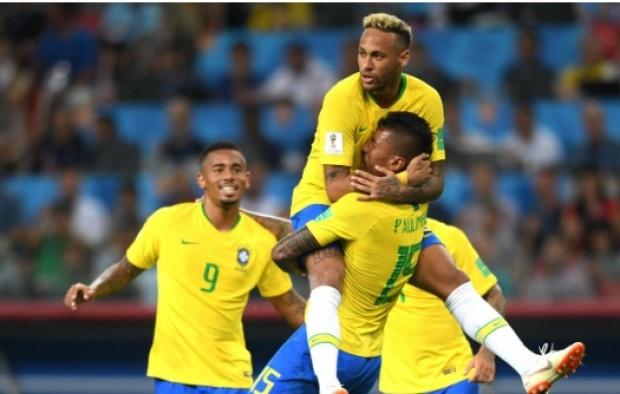 Image result for บราซิลปราบเซอร์เบีย 2-0 คว้าแชมป์กลุ่ม อี