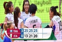 """ที่สุดความภาคภูมิใจ!! ลูกยางสาวคว่ำ """"อิตาลี"""" 3-0 ยึดแชมป์กลุ่ม"""