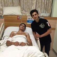 แฟนคลับโล่งอกอองตวนยิ้มออกพักโรงพยาบาลหลังถูกเตะท้ายทอยศึกไทยไฟต์