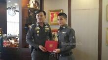 ′ต้น นฤบดินทร์′ แข้งทีมชาติไทย เข้ารับการประดับยศ ′สิบตำรวจตรี′