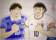 ผู้เขียน ซึบาสะ วาดการ์ตูนที่ระลึกแมตช์ไทย-ญี่ปุ่น