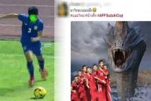 แชร์ว่อน!! สิ่งที่ นักฟุตบอลไทย โดน ในเกมส์ แพ้ อินโด 1-2 (คลิป)