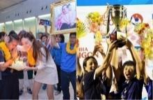 มาดามแป้ง is happy, มาดามแป้ง is happy หลังแข้งสาวไทยโค่นเมียนม่า คว้าแชมป์อาเซียน