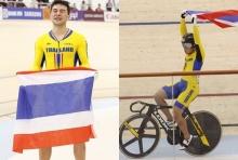 เหรียญที่10มาแล้ว! จาย นักปั่นทีมชาติไทย คว้าเหรียญทอง จักรยานลู่(คลิป)